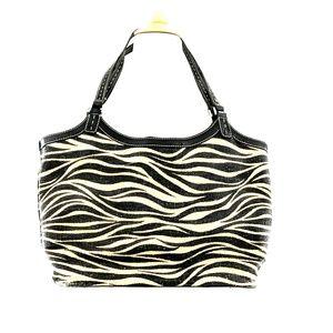 EUC Franco Sarto Straw Zebra Tote Bag